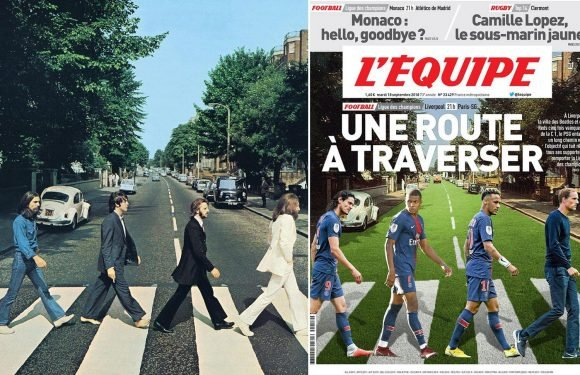 Liverpool vs PSG: French front page recreates The Beatles' famous album cover to preview Champions League tie