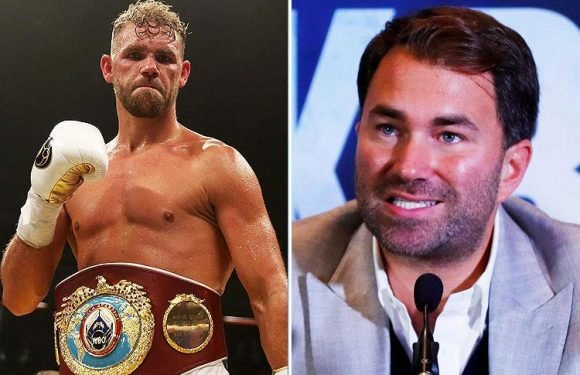 Billy Joe Saunders being stripped of WBO middleweight title will still mean Demetrius Andrade fights for it, reveals Eddie Hearn