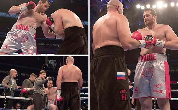 David Price retires on stool through injury putting career in doubt in fourth round against Sergey Kuzmin