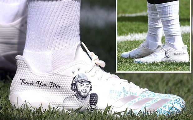 NFL star James Conner wears boots in tribute to rapper Mac Miller
