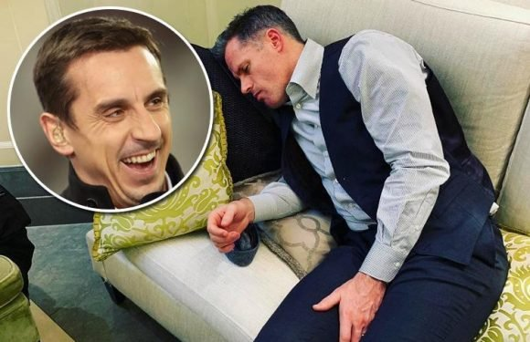 Jamie Carragher says Manchester United and Arsenal will finish outside top four as he is trolled by Sky Sports pal Gary Neville
