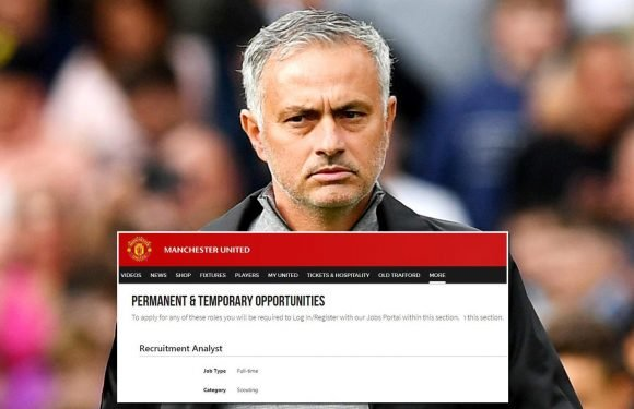 Manchester United recruiting scout on official website… but you'll have to have VERY high qualifications to land the role of spotting future talents for Jose Mourinho