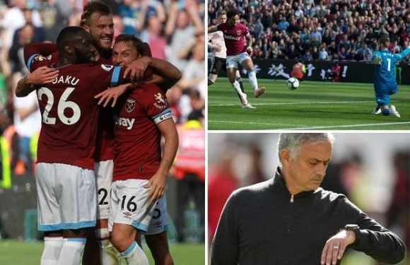 West Ham 3 Manchester United 1: Jose Mourinho's side in crisis after dismal defeat to the Hammers