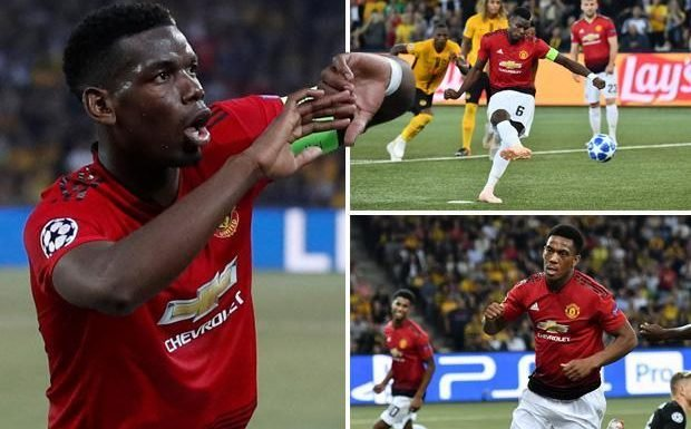 Young Boys 0 Manchester United 3: Paul Pogba double sees Jose Mourinho's side win Champions League opener