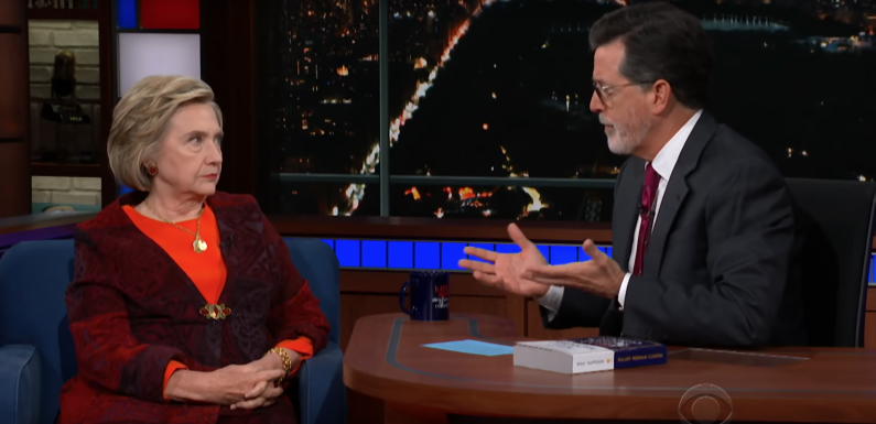 See Hillary Clinton Talk Kavanaugh Allegations, 'Democracy in Crisis' on 'Colbert'