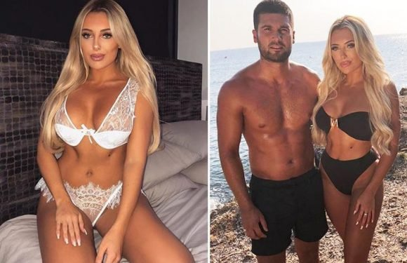 Towie's Amber Turner slips into sexy lingerie as she prepares to surprise boyfriend Dan Edgar
