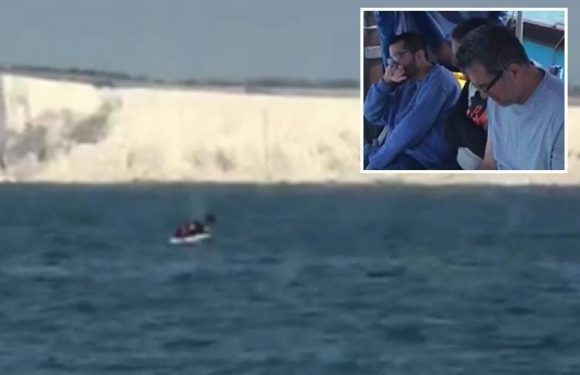 Four Iranian migrants 'stranded on inflatable dinghy in middle of English Channel for two days' rescued near Dover
