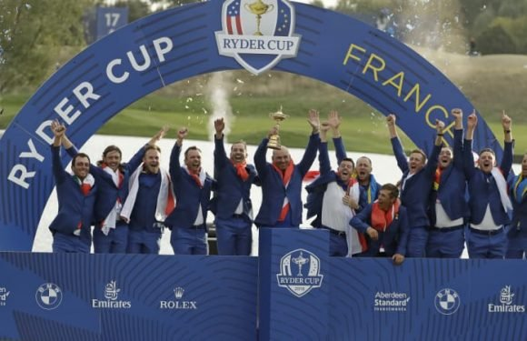 Europe regains Ryder Cup after dominant singles display