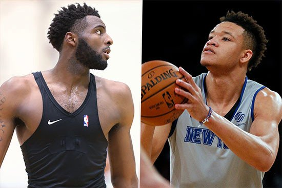 Scrimmage shows Knicks rookies going in opposite directions