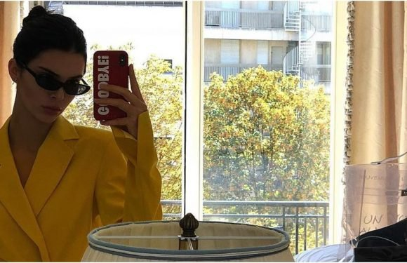 Kendall Jenner Made a Major Power Move in This Mustard Yellow Suit and Somehow Made It Sexy