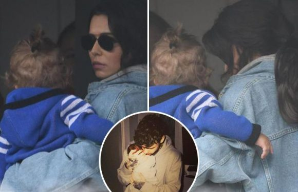 Cheryl's son Bear wears a chic top-knot hairdo in first public picture
