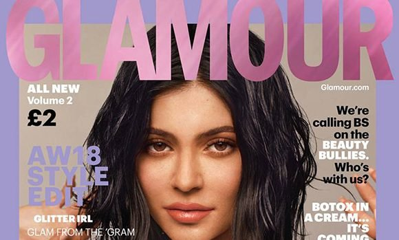 Kylie Jenner Slays In Silver Metallic Dress With Enormous Bow & More On Cover Of 'Glamour' — See Pics