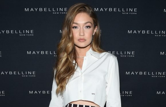 Gigi Hadid's Skirt at Maybelline Party Has a Big Eye On It!