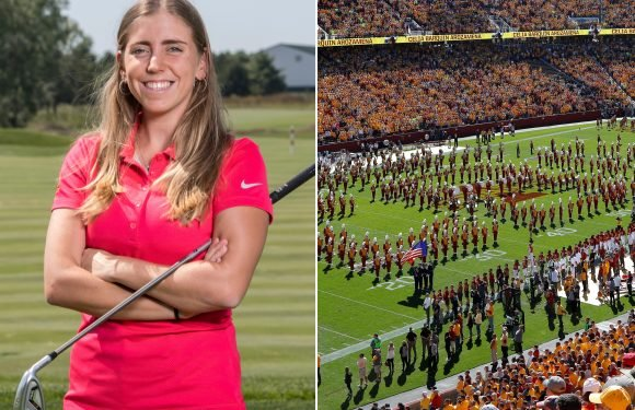 Iowa State honors murdered golf star before game