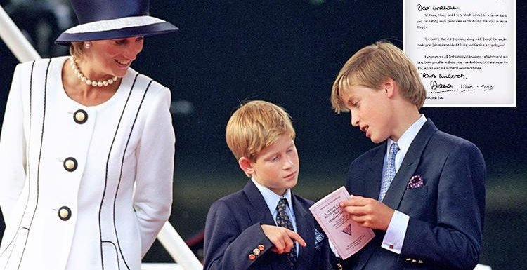 Princess Diana's sweet apology letter to her bodyguard – sent just weeks before she died