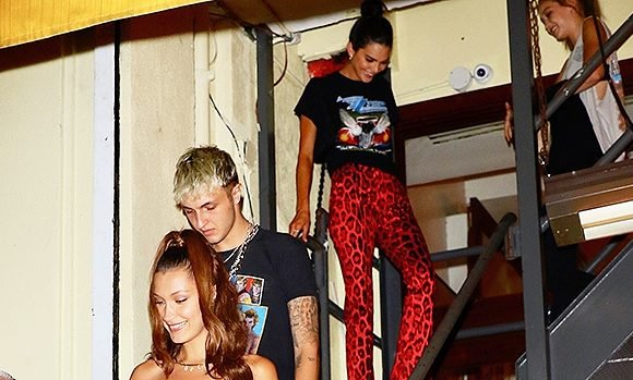 Kendall Jenner & Anwar Hadid Go To Dinner Again With Bella & Gigi — Inseparable?