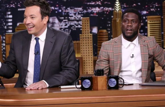 Kevin Hart FaceTimes Dwayne Johnson While Co-Hosting 'The Tonight Show' – Watch!