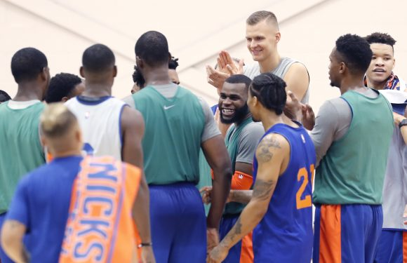 Kristaps Porzingis' energy at camp is starting to infect Knicks