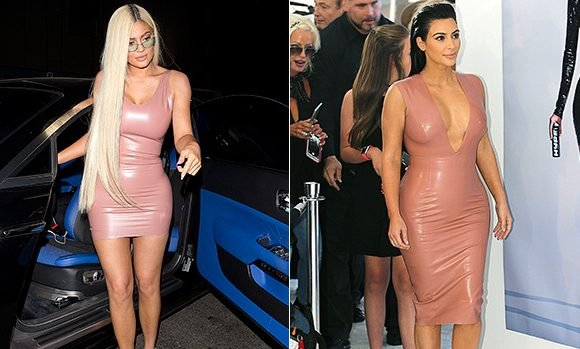 Kylie Jenner Copies 2015 Kim Kardashian Look In Skintight Pink Latex Dress: Who Wore It Better?