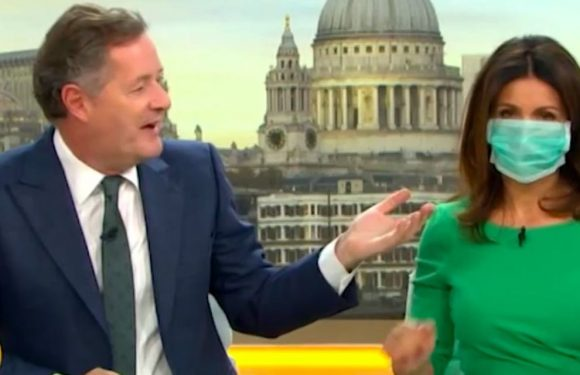 Good Morning Britain's Susanna Reid wears medical mask live on air due to Piers Morgan