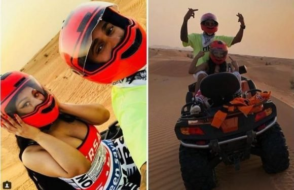 Lewis Hamilton and Nicki Minaj post cosy quad bike snaps on Instagram fuelling dating rumours