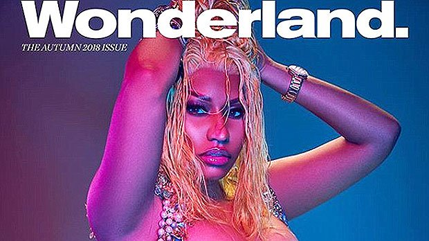 Nicki Minaj Shows Off Major Cleavage & Bare Butt In Sexy New 'Wonderland' Cover Photos