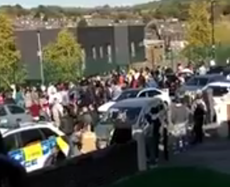 Sheffield school on lockdown as mass brawl between students is broken up with police dogs
