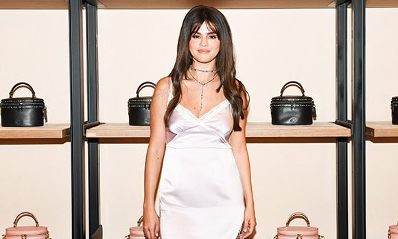 How You Can Get Selena Gomez's Exact Satin Slip Dress She Wore At The Grove