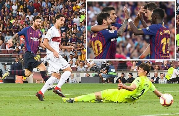 Barcelona 8 Huesca 2: Messi-inspired Barca come from behind to win goalfest at Nou Camp