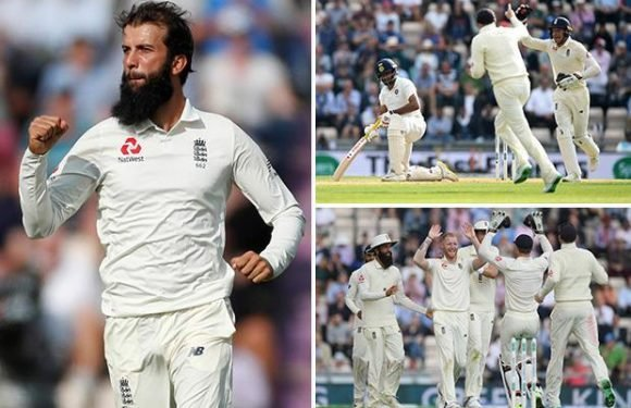 Moeen Ali spearheads England to cut through India but last-wicket stand gives tourists 27-run lead after second day of Fourth Test