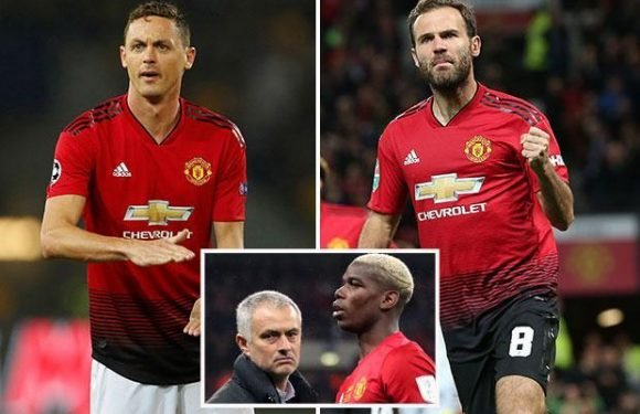 Manchester United's peacemakers are Juan Mata and Nemanja Matic amid Jose Mourinho and Paul Pogba fall-out