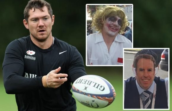 Alex Goode cannot wait to get his Saracens kit on… after a summer as the king of fancy dress
