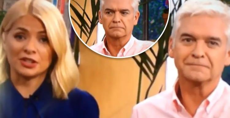 Holly Willoughby and Philip Schofield left 'rolling on the floor laughing' after Phil thinks Holly says something VERY rude on This Morning