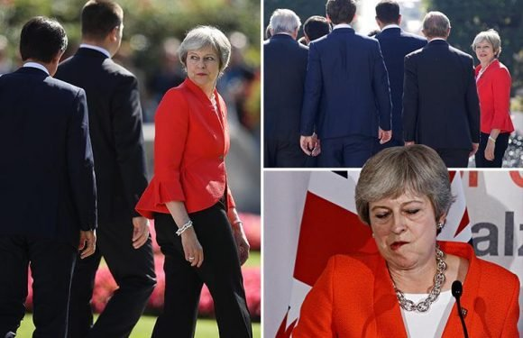 Theresa May takes a Brexit battering after EU leaders tear up her Chequers plan