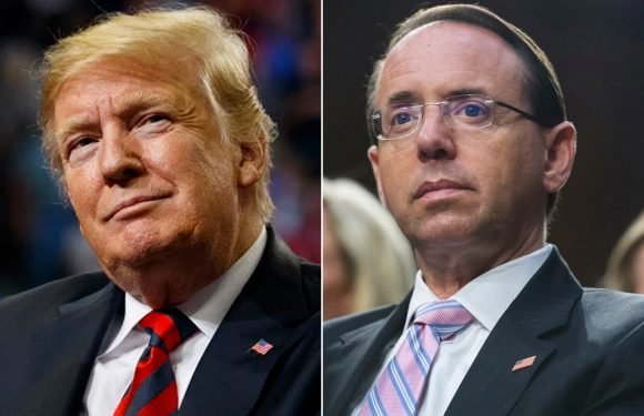 Trump hints Rosenstein may not have a job much longer