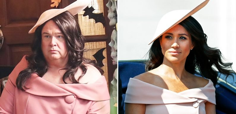 Eric Stonestreet Wears a Meghan Markle Costume While Filming Modern Family