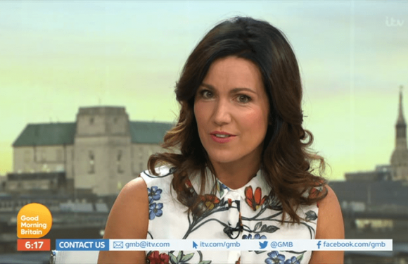 Susanna Reid reveals she has ditched alcohol as she looks fresh faced on GMB after late night at GQ Men of the Year Awards
