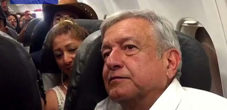 Mexico's president-elect stuck on plane for hours after commercial flight grounded