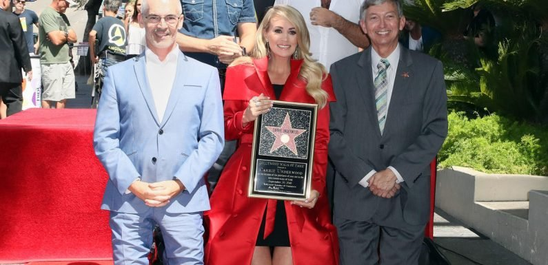 Carrie Underwood breaks down in tears as she receives star on Hollywood Walk of Fame