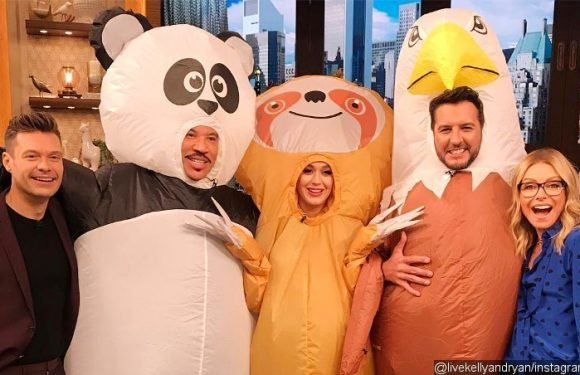 Katy Perry Is Bubbly Giant Sloth as She Dresses Up for Halloween
