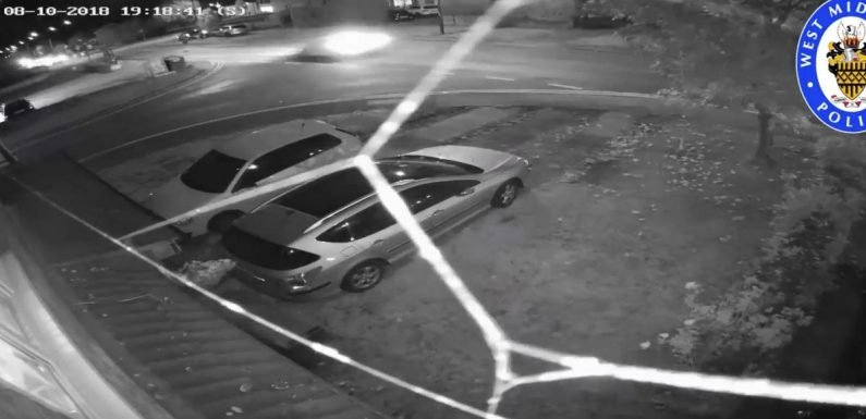 Harrowing CCTV shows hit-and-run victim desperately trying to avoid oncoming car
