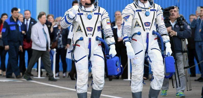 NASA astronaut Nick Hague emerges from capsule after ISS rocket launch emergency
