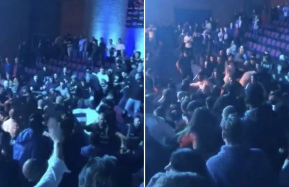 Watch as mass brawl breaks out at Essex night of boxing