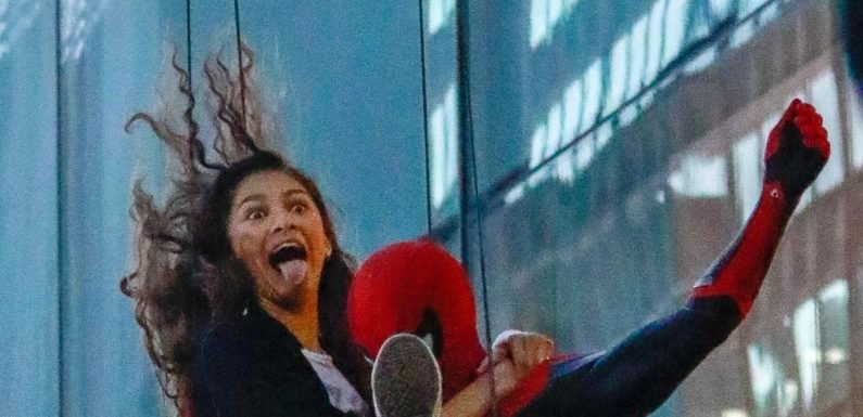 Zendaya Coleman snapped as she swings through New York with Spider-Man