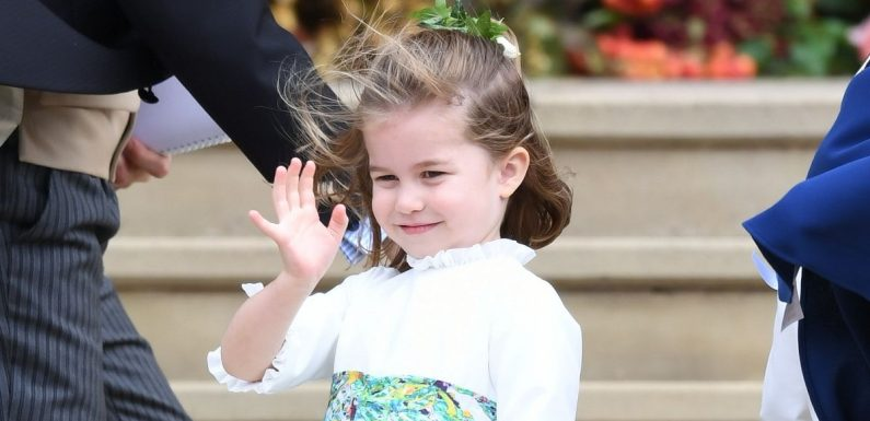 Charlotte steals show as she arrives with brother George at Eugenie's wedding