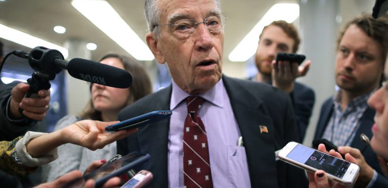 Grassley says he wouldn't let Supreme Court vacancy be filled in 2020