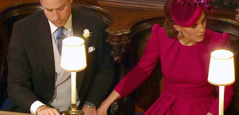 What Kate and Wills' rare PDA at the royal wedding means – and it's NSFW