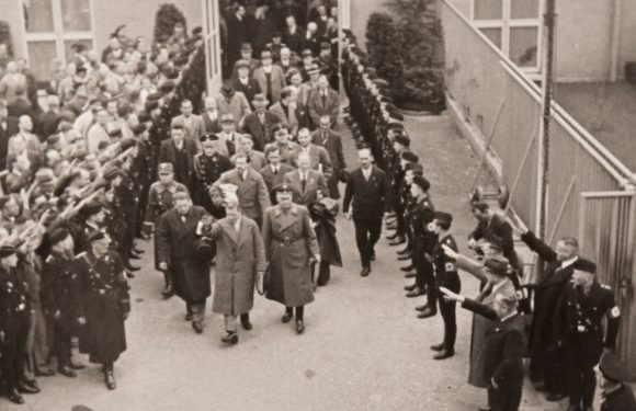 Edward VIII gives Nazi salute during 1937 visit to Germany for Hitler meeting