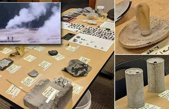 Coins, bottles and 1930's pacifier 'coughed up' by Ywellowstone geyser