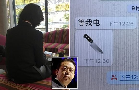 Wife of ex-Interpol chief held in China says she fears for her life